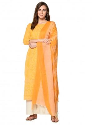 Print Yellow Salwar Kameez
