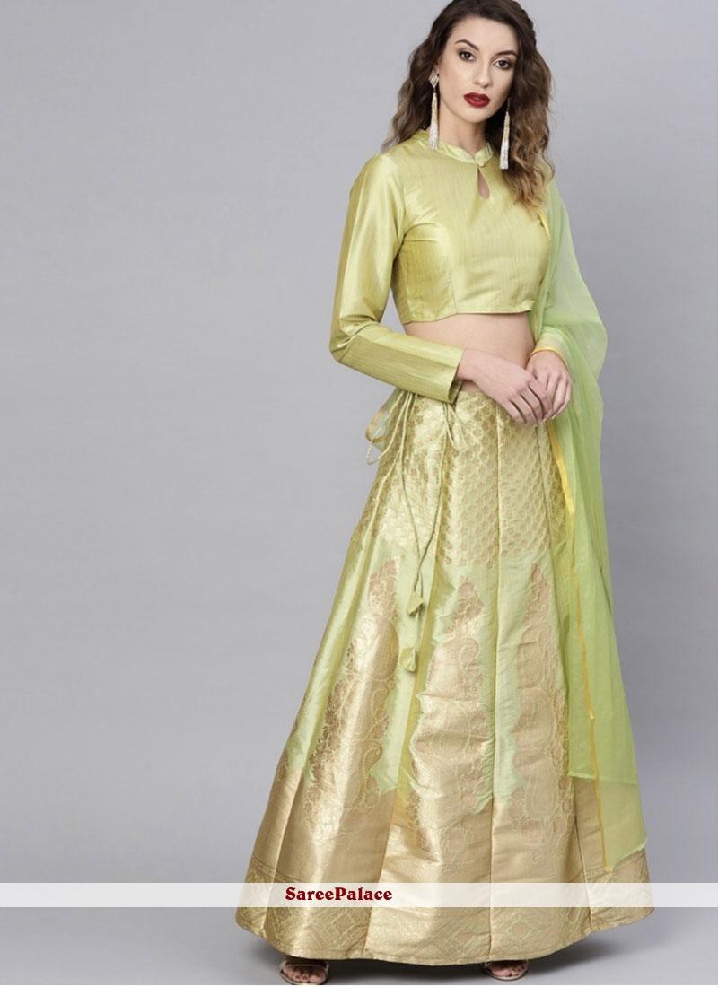 Printed Art Silk Readymade Lehenga Choli