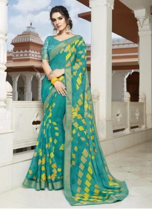Printed Bollywood Saree