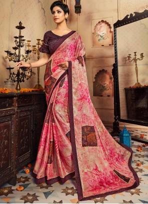Multi Colour Printed Classic Designer Saree