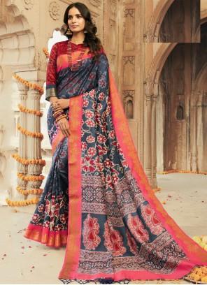 Printed Multi Colour Contemporary Saree