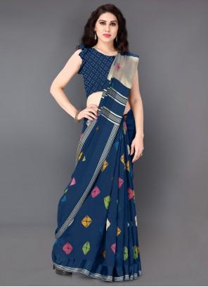 Printed Cotton Casual Saree