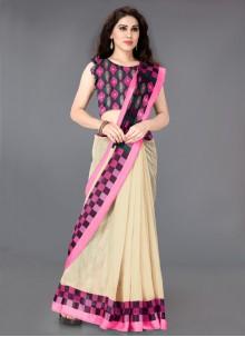 Printed Cotton Multi Colour Designer Saree