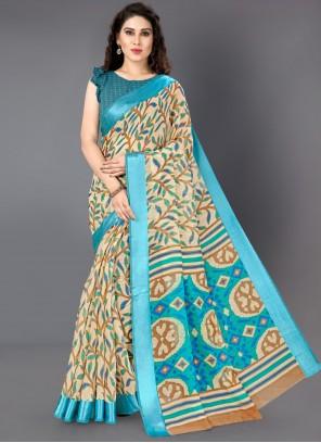 Printed Cotton Multi Colour Classic Saree