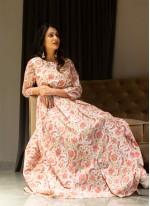 Printed Cotton Multi Colour Gown
