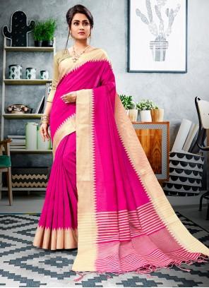 Printed Cotton Silk Trendy Saree