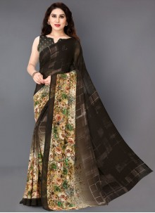 Printed Faux Georgette Printed Saree