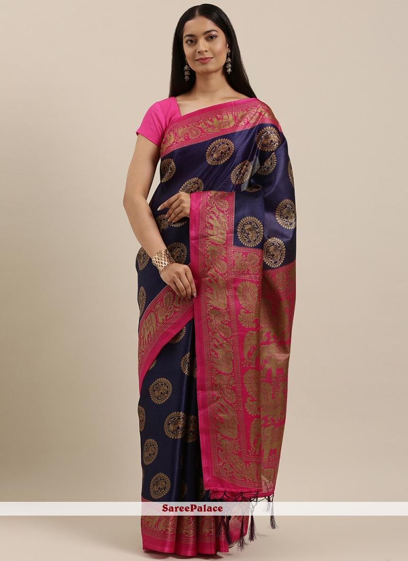 Printed Festival Purple Designer Traditional Saree