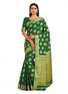 Printed Green Designer Traditional Saree