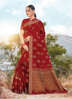 Printed Handloom Cotton Designer Saree