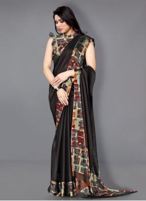 Printed Multi Colour Faux Chiffon Traditional Saree