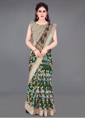 Printed Multi Colour Printed Saree