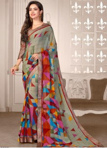 Printed Multi Colour Saree