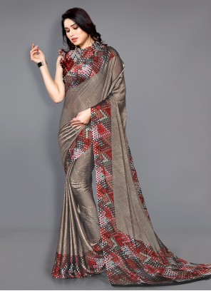 Printed Multi Colour Traditional Saree