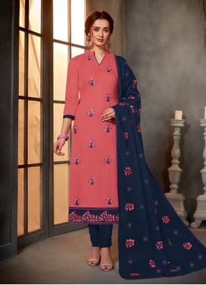Printed Pink Salwar Kameez
