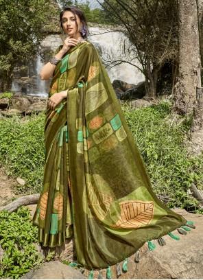Printed Saree Cotton in Multi Colour