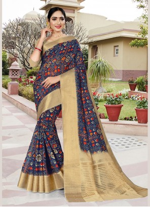 Printed Silk Casual Saree