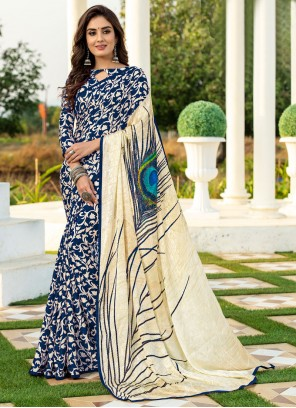 Printed Silk Designer Saree
