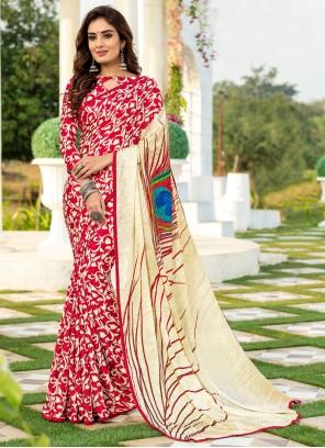 Printed Silk Multi Colour Saree