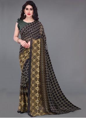 Printed Multi Colour Traditional Saree