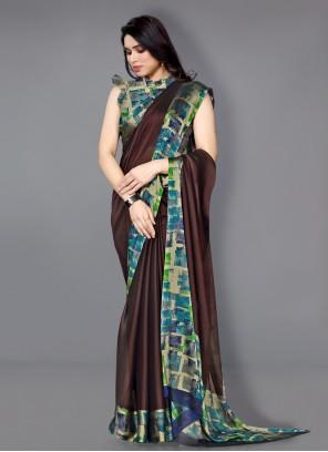 Multi Colour Printed Traditional Saree