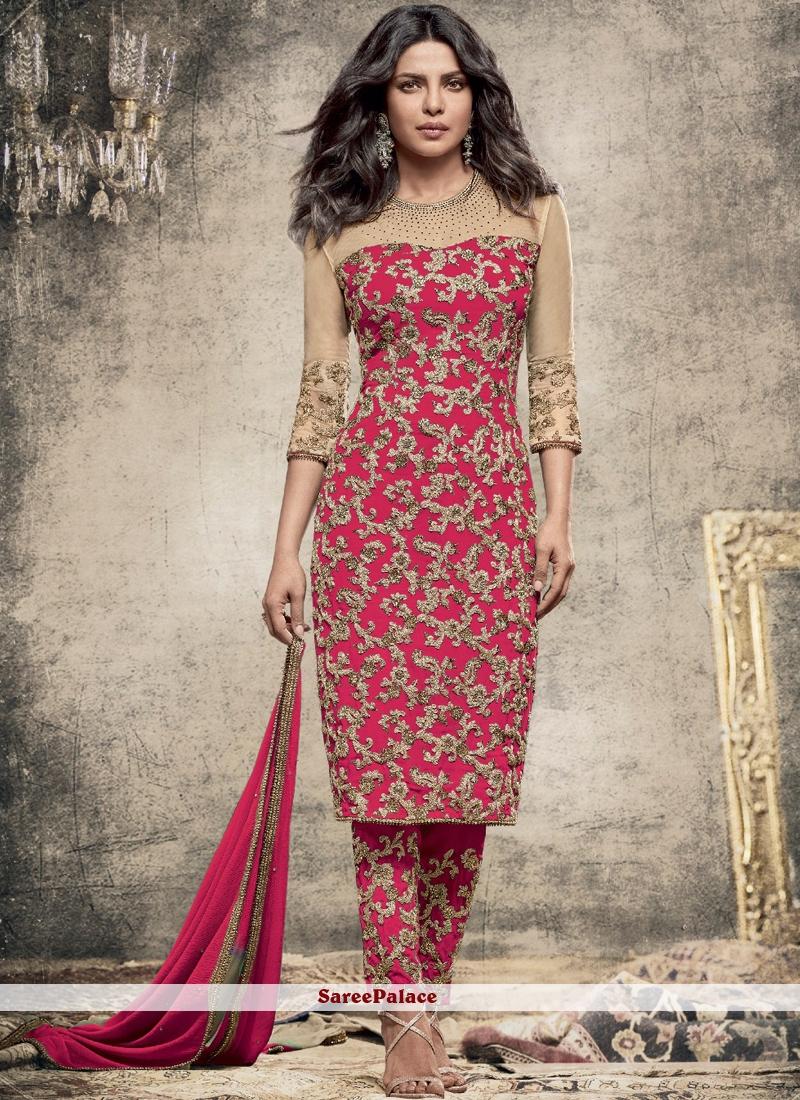 Priyanka Chopra Faux Georgette Pant Style Suit