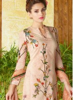 Prodigious Print Work Cotton   Churidar Designer Suit