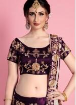 Purple Art Silk Lehenga Choli