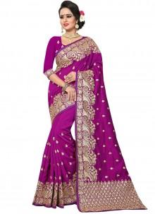 Purple Bridal Designer Traditional Saree