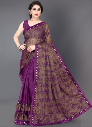 Purple Casual Traditional Saree