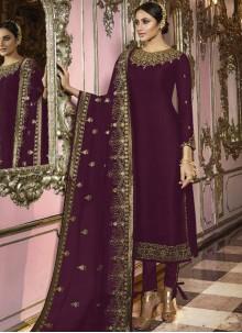 Purple Ceremonial Churidar Suit