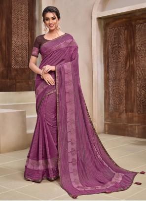 Purple Ceremonial Classic Designer Saree