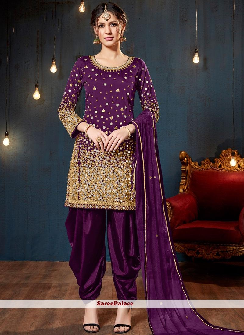 9d07d8c051 Buy Purple Ceremonial Designer Patiala Suit Online
