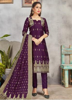 Purple Ceremonial Pant Style Suit