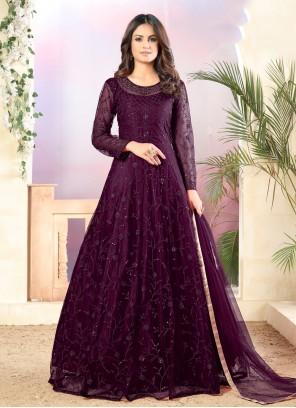Purple Ceremonial Salwar Suit