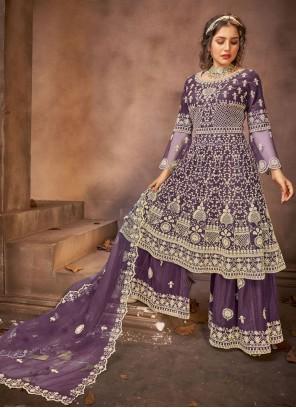 Purple Color Designer Pakistani Suit