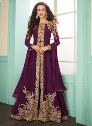 Purple Color Designer Salwar Suit