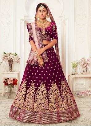 Purple Color Trendy Lehenga Choli