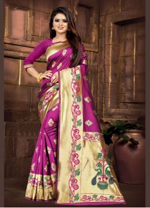 Purple Contemporary Saree