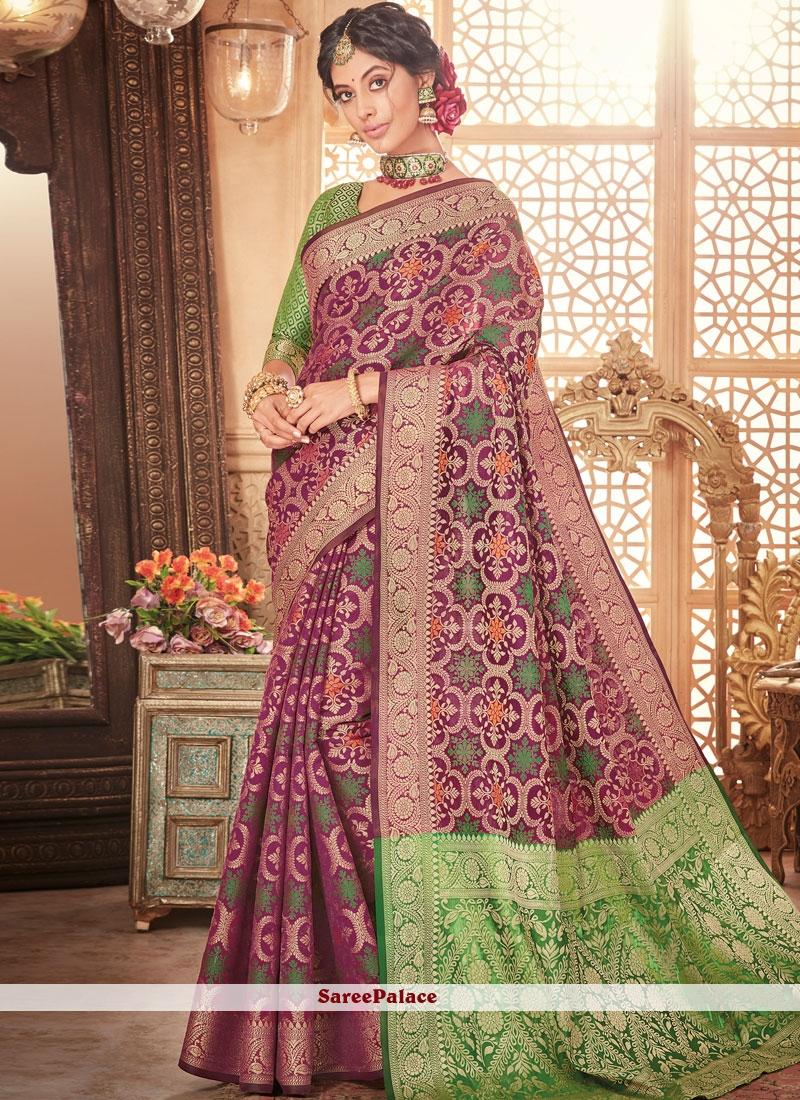 Purple Designer Traditional Saree