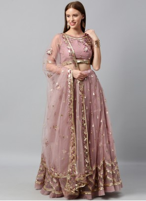 Purple Embroidered Lehenga Choli