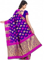 Purple Festival Art Silk Traditional Saree