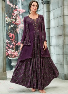 Purple Festival Readymade Gown