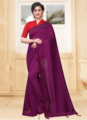 Purple Festival Silk Designer Saree