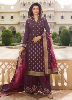 Purple Festival Trendy Palazzo Suit
