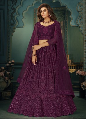 Purple Lehenga Choli