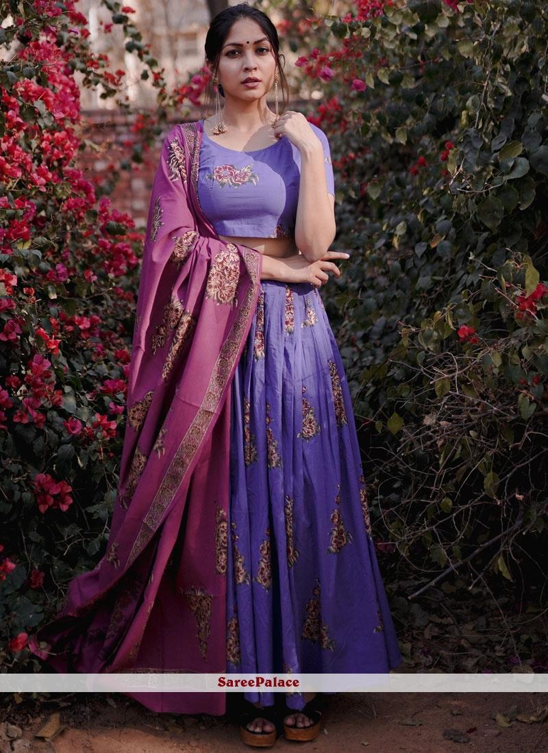 Purple Mehndi Lehenga Choli