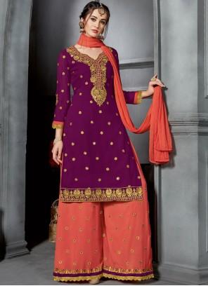 Purple Party Designer Palazzo Suit
