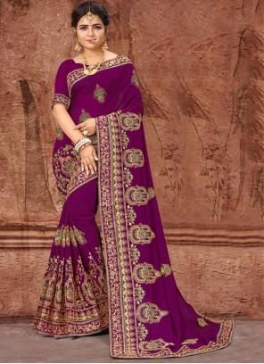 Purple Party Designer Saree