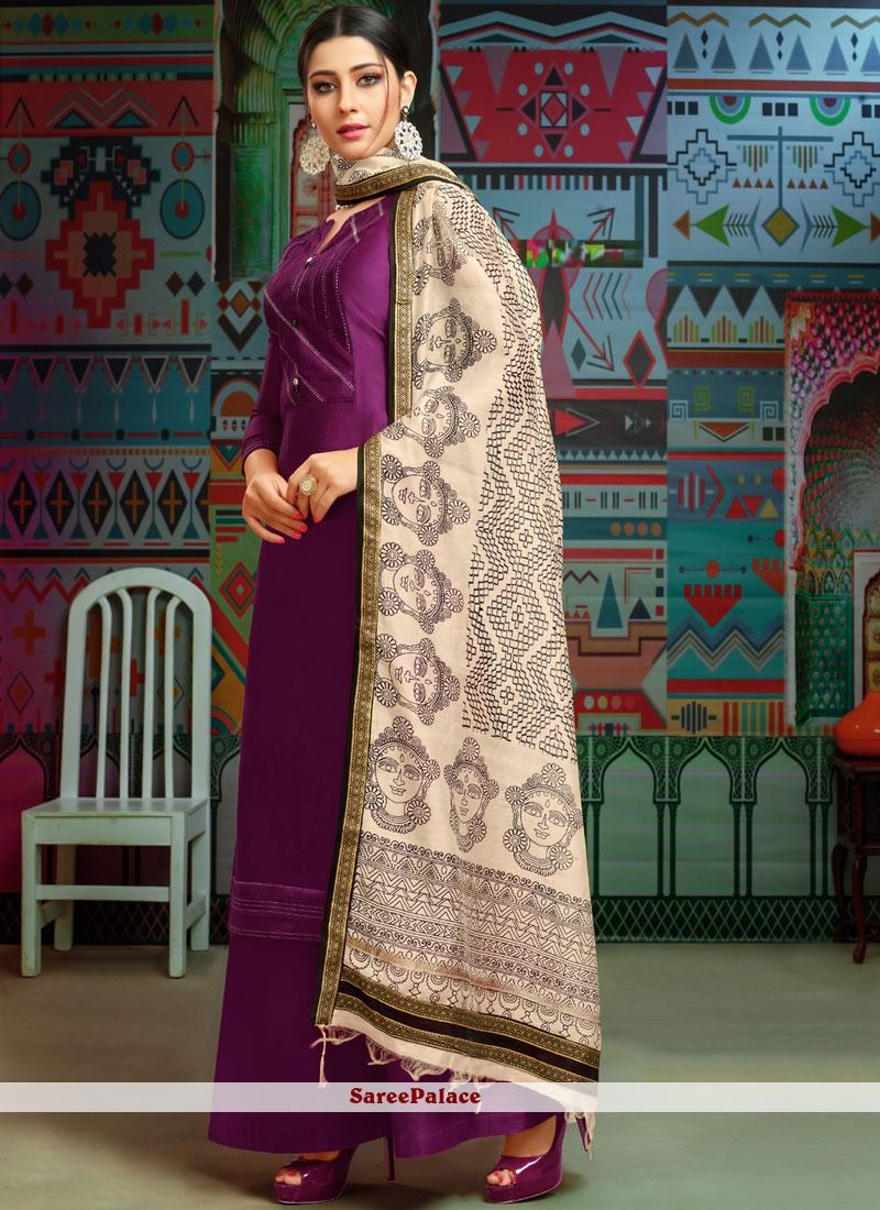 Purple Print Designer Palazzo Suit